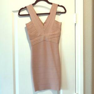 Gorgeous blush/nude bandage dress